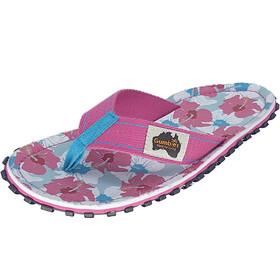 GUMBIES Islander Canvas Thongs mixed hibiscus